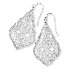 {Kendra Scott} Silver Filigree Addie Earrings